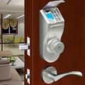 Fingerprint Silver Finish Deadbolt Lock - Universal