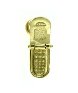 14k Yellow Gold Cell Phone Charm