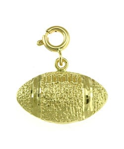 14k Yellow Gold Football Charm