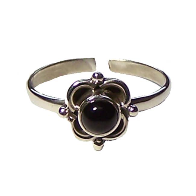 Handmade Black Onyx Ring (India)