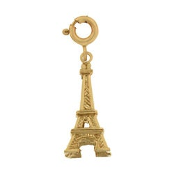 14k Gold 3-D Eiffel Tower Charm