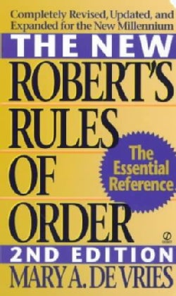 The New Robert's Rules of Order (Paperback)