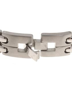 Men's Titanium and Diamond ID Bracelet