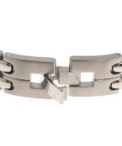 Men's Titanium and Diamond ID Bracelet
