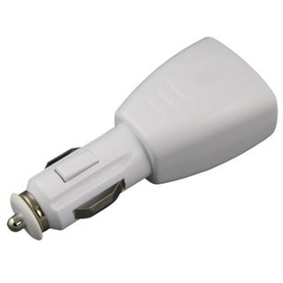 eForCity 2-Port USB Car Charger Adapter, White