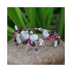 Garnet and Rose Quartz Bracelet (Thailand)