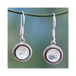 Moonstone Moon Over India Earrings (India)