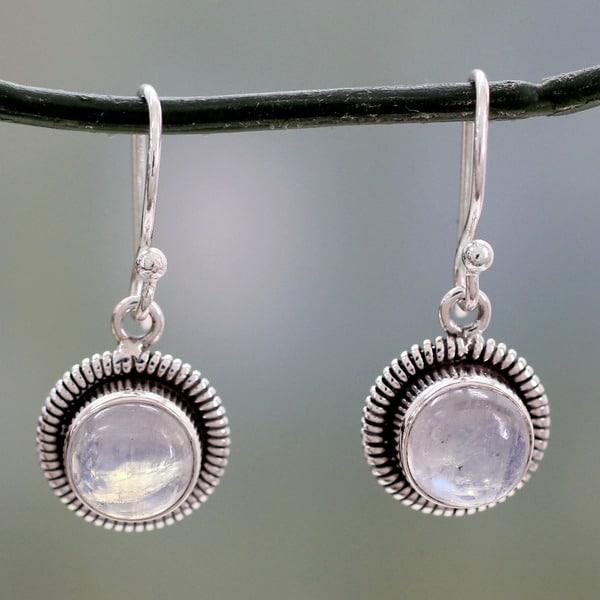 Moonstone Moon Over India Earrings (India)