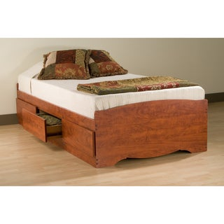 Cherry Twin Mate's Platform Storage Bed with 3 Drawers