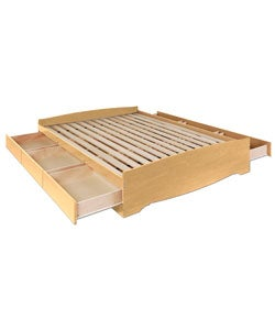 Maple Queen Mate's 6-drawer Platform Storage Bed