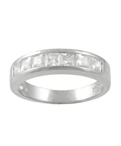 Tressa Sterling Silver Princess-cut Cubic Zirconia Ring