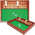 Shut the Box Shadow Box Dice Game Zero Out 1-12