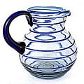 Glass Cobalt Spiral Pitcher (Mexico)