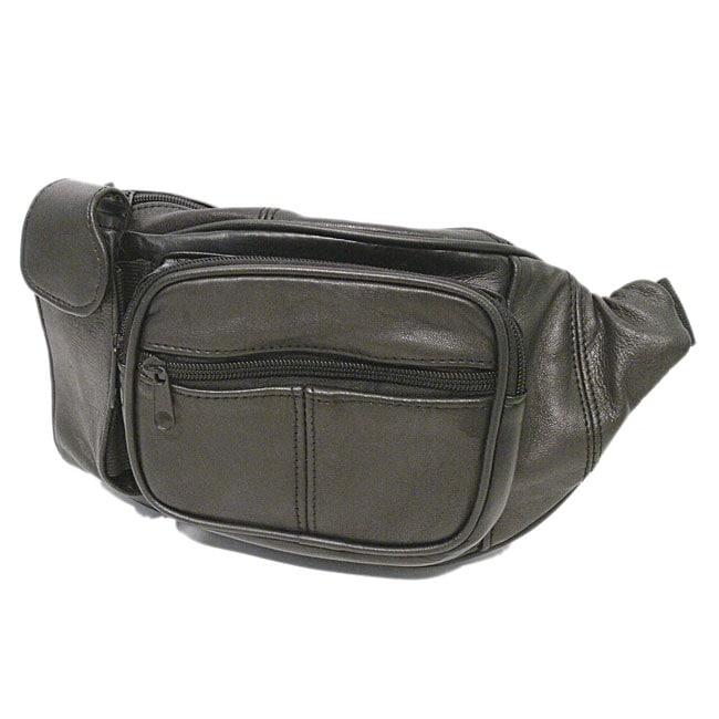 Boston Traveler Genuine Leather Fanny Pack