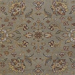 Hand-knotted Mechi Wool Rug (4' x 6')