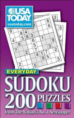 USA Today Everyday Sudoku: 200 Puzzles from the Nation's No.1 Newspaper (Paperback)