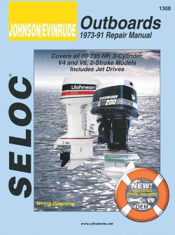 Johnson/Evinrude Outboards 1973-91 Repair Manual: 60-235 Horsepower, 3-Cylinder, V4 and V6 (Paperback)