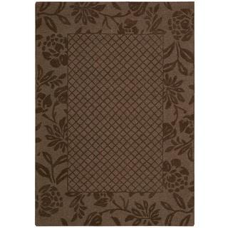 Nourison Barclay Butera Hand-tufted Chocolate Rug (7'9 x 9'9)