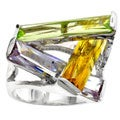 Kate Bissett Silvertone Contemporary CZ Ring