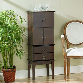 Cherry Wood Jewelry Armoire
