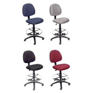 Boss Contoured Comfort Adjustable Rolling Drafting Stool Chair