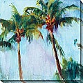 Allyson Krowitz Winter Palm Canvas Art