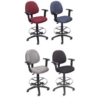 National Public Seating Adjustable Height Black Round Seat