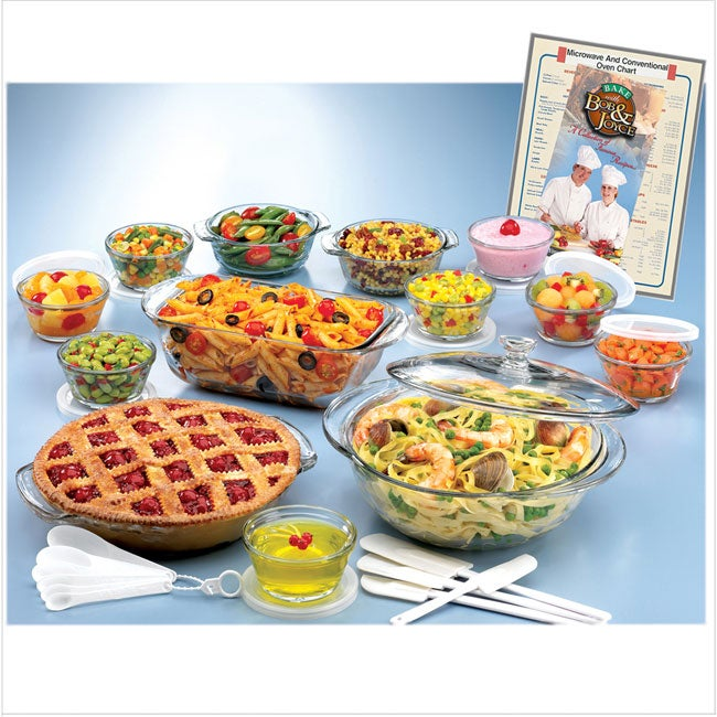 14pc Anchor Hocking Glass Bakeware Set with Triple Bonus