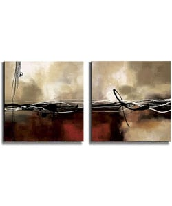 Symphony in Red by Maitland Stretched Canvas Set