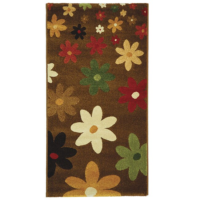 Safavieh Fine-spun Daises Brown/ Multi Area Rug (2'7 x 5')
