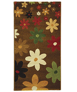 Fine-spun Daises Brown/ Multi Area Rug (2'7 x 5')