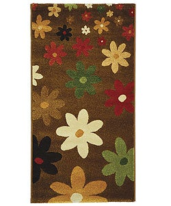 Safavieh Fine-spun Daises Brown/ Multi Area Rug (2'7 x 5')