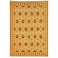 Fine-spun Regal Cream/ Multi Area Rug (4' x 5'7)
