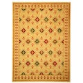 Fine-spun Regal Cream/ Multi Area Rug (7'10 x 11')