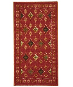Fine-spun Regal Orange/ Multi Area Rug (2'7 x 5')