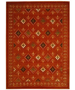 Fine-spun Regal Orange/ Multi Area Rug (7'10 x 11')