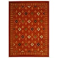 Safavieh Fine-spun Regal Orange/ Multi Area Rug (7'10 x 11')