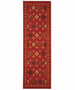 Fine-spun Regal Orange/ Multi Area Runner (2'4 x 6'7)