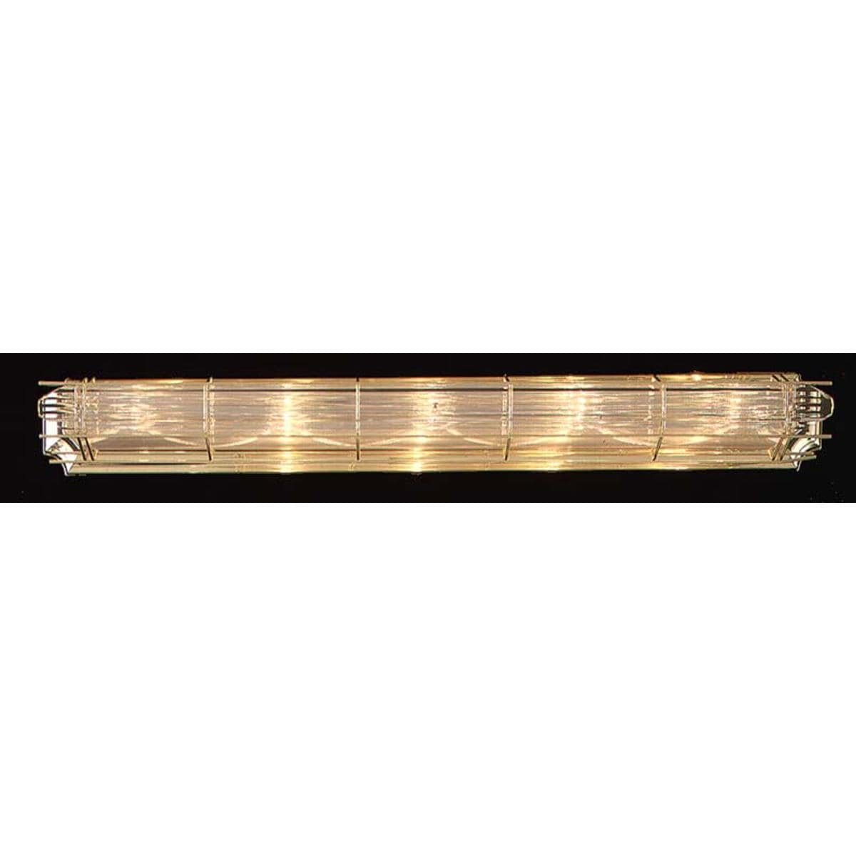 Contemporary 5-light Brass Bath Light