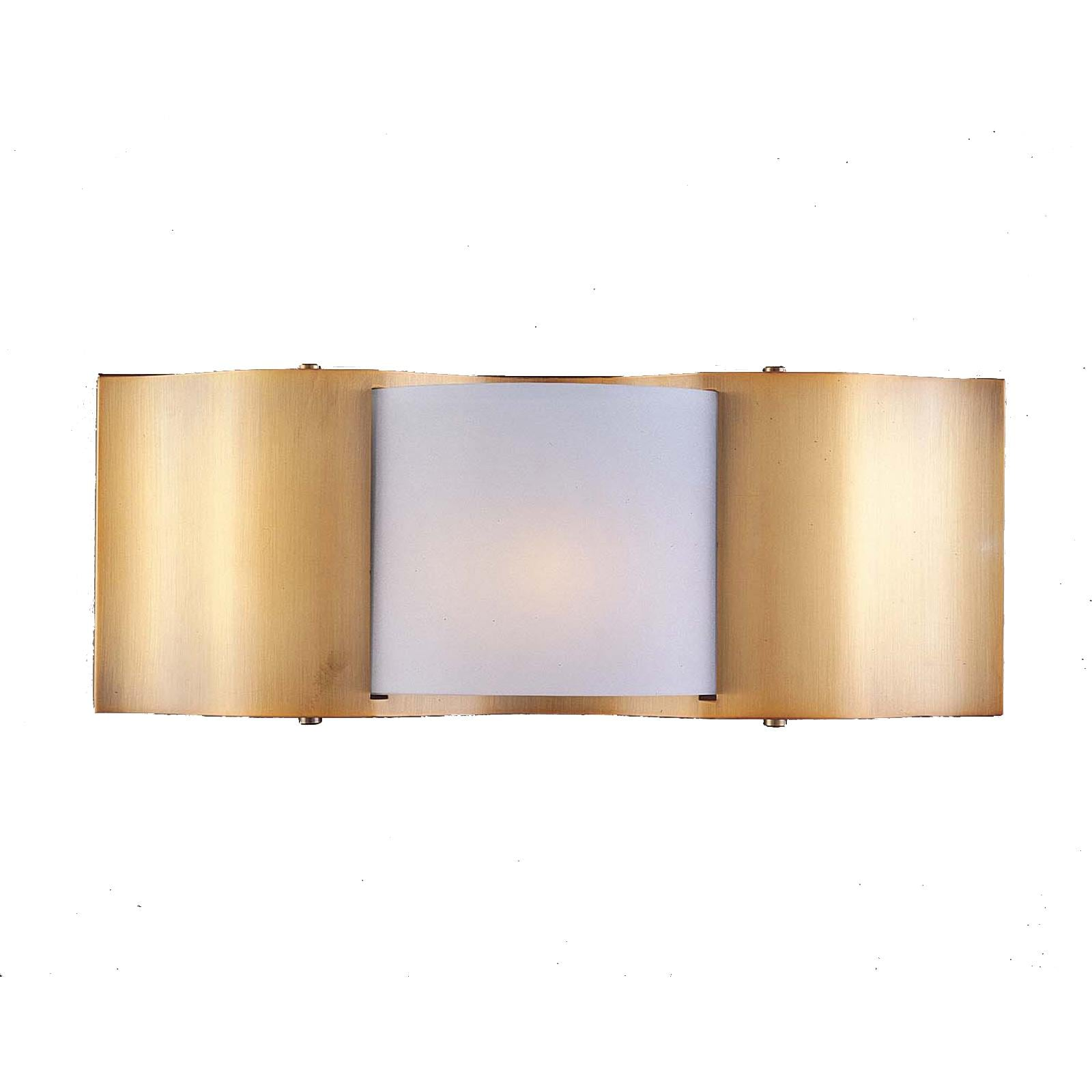 Metro II 1-light Gold Beige Halogen Wall Sconce