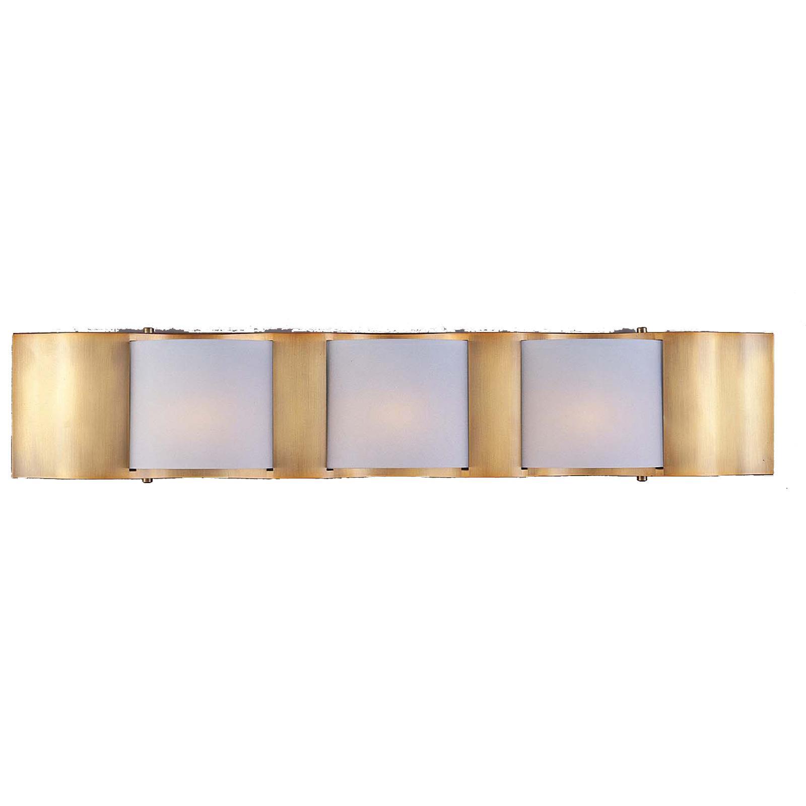 Metro II 3-light Gold Beige Halogen Bath Light