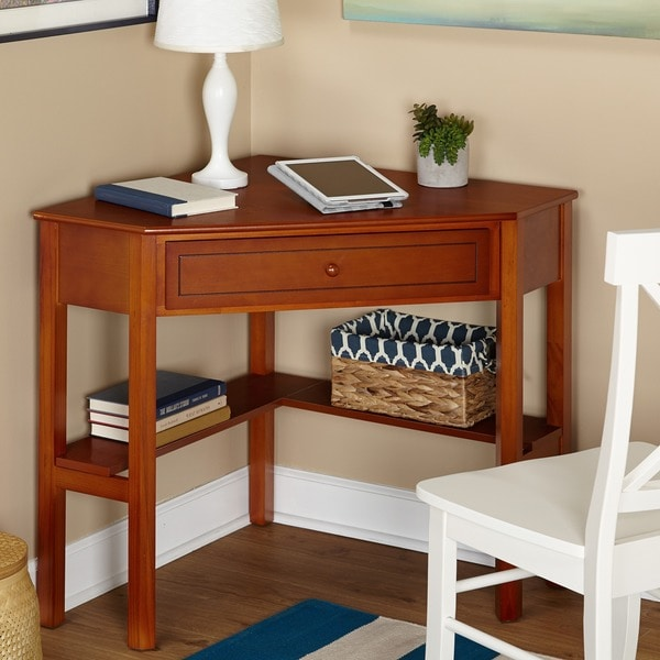 Simple Living Wood Corner Computer Desk 10703461