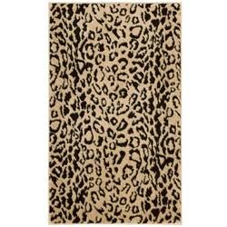 Nourison Mondrian Beige/ Black Animal-print Rug (2'3 x 3'9)