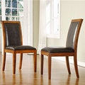 Aiden Dark Chocolate Side Chairs (Set of 2)