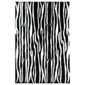 Hand-tufted Snow Black Wool Rug (5' x 8')