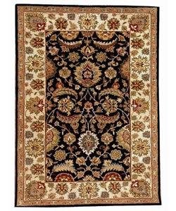 Hand-tufted Black/Ivory Wool Rug (8' x 10'6)