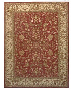 Hand-tufted Nikita Red/ Beige Wool Rug (8' x 10'6)