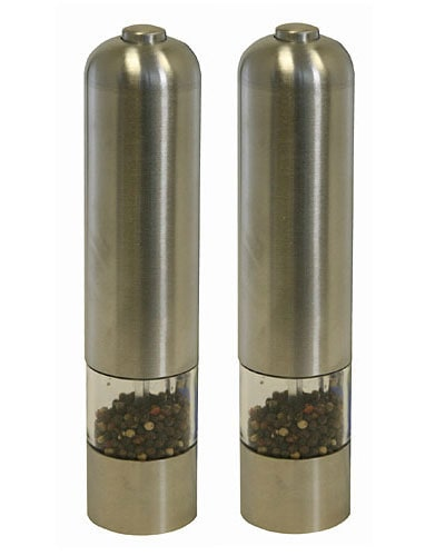 Electric Stainless Steel Pepper Mill/ Grinder (Pack of 2)