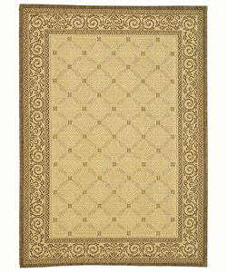 Safavieh Indoor/ Outdoor Bay Natural/ Brown Rug (2'7 x 5')