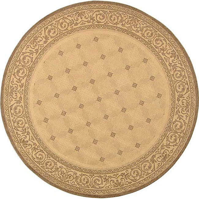 Safavieh Indoor Outdoor Bay Natural Brown Rug 5 3 Round